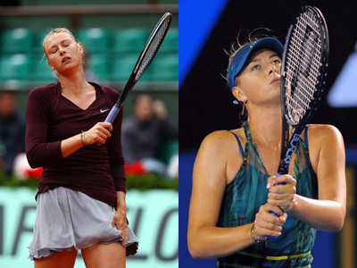 Sharapova at Roland Garros and the Australian Open